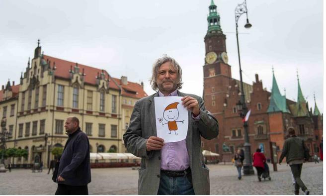 Waldemar Fydrych in Wroclaw. Photo: PAP/Maciej Kulczynski